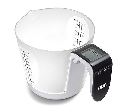 ADE Báscula digital de cocina con vaso medidor KE919 Franca. Balanza electrónica de cocina especialmente