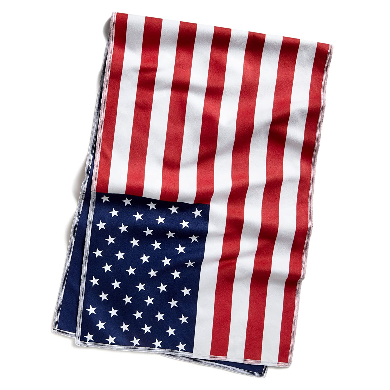 "Mission HydroActive Original Microfiber Large Cooling Towel, USA Flag, 10"" x 33"""