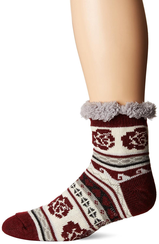 MUK LUKS womens standard Muk Luks Women's Pattern Cabin Socks open red Small/Medium (5-7) 0022101640-S/M