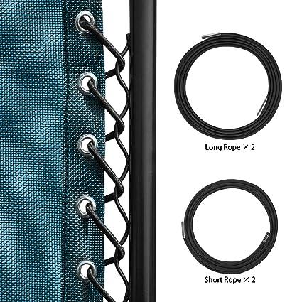 Keten Universal Replacement Cords For Zero Gravity Chair(4 Cords),  Replacement Laces For
