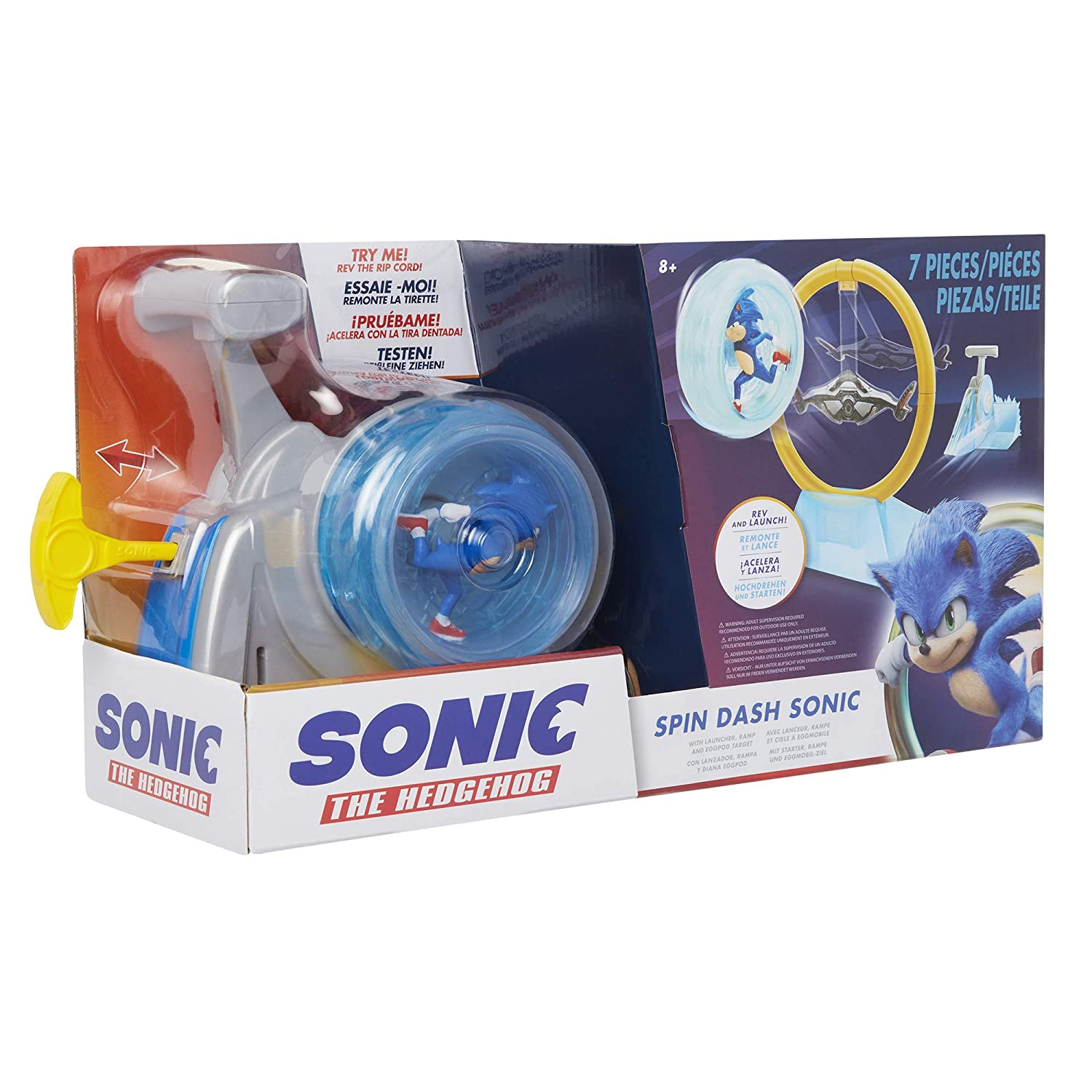 Sonic The Hedgehog Spin Dash Sonic REV and Launch Super Sonic Speed