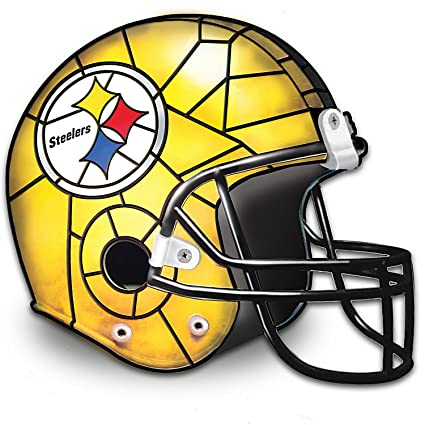 483d5d4e0 The Pittsburgh Steelers Louis Comfort Tiffany-Style Accent Lamp by The  Bradford Exchange - Table Lamps - Amazon.com