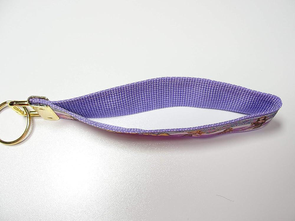 Zelda in purple Key fob Strap or Keychain Keyfob