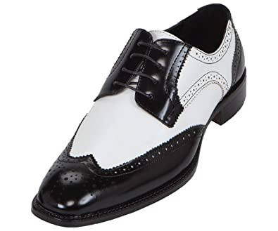 Mens Black Wingtip Dress Shoes