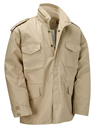 d952a488cd40 M65 Military Field Jacket With Removable Quilted Inner Liner-Beige ...