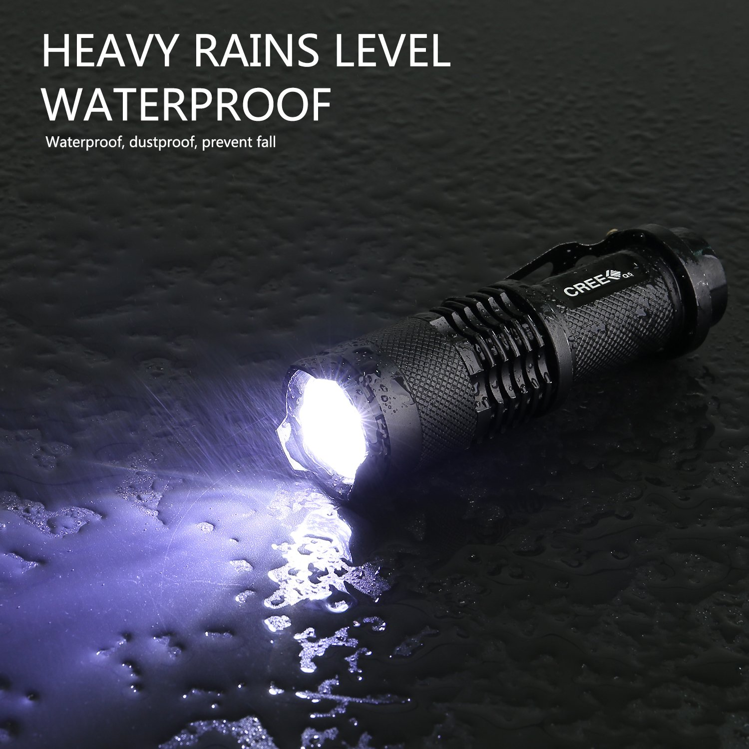 GSPON LED Flashlight,Outlite High Power 3 Mode Tactical Flashlight Handheld Waterproof Flashlight for Outdoor by GSPON (Image #4)
