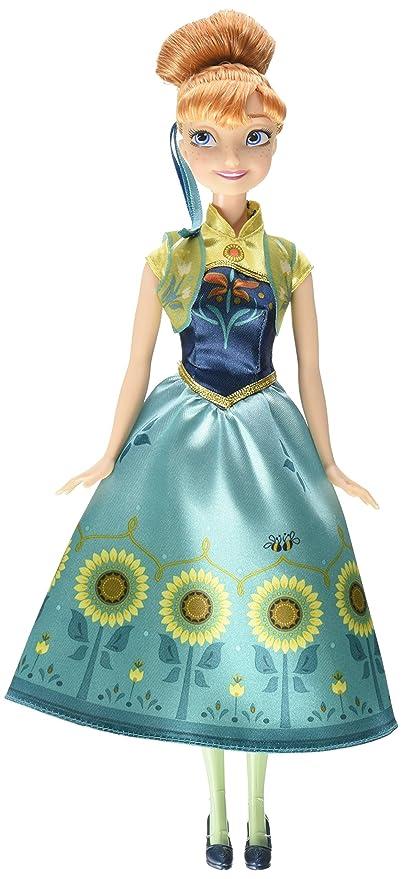 Amazon.com: Mattel Disney Frozen Fever Anna Doll: Toys & Games