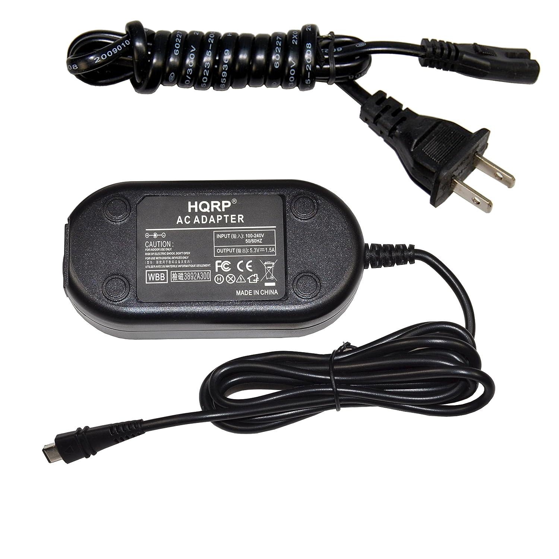 LEGRIA HF R66 HF R67 Euro Plug Adapter HF-R80 HQRP AC Adapter for Canon VIXIA HF-R800 HF R606 Camcorder Charger Power Supply Cord HF R68 HF-R82