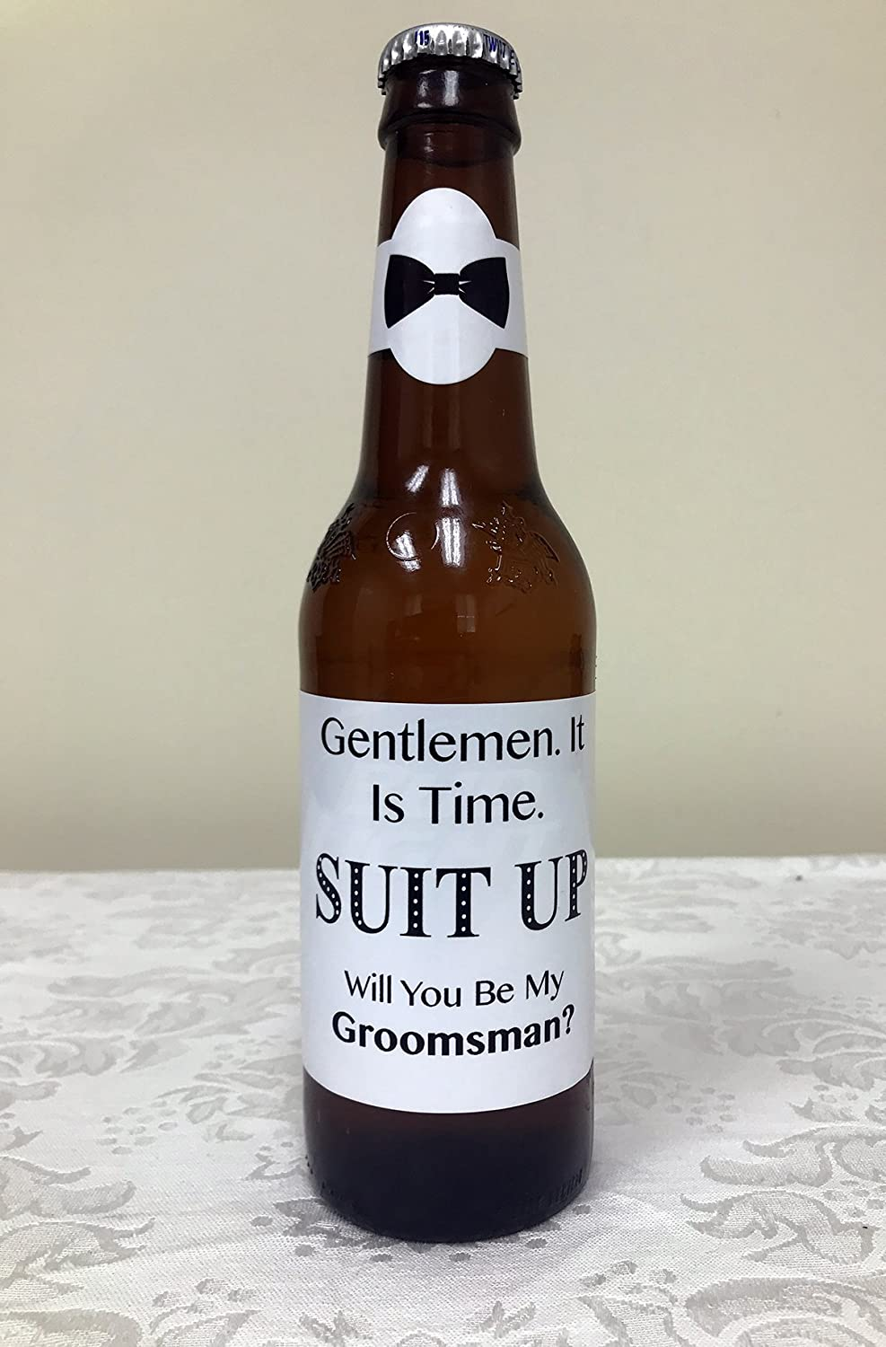 Amazon.com: Be My Groomsmen - Beer Labels - 4 Bottle Labels and 4 ...