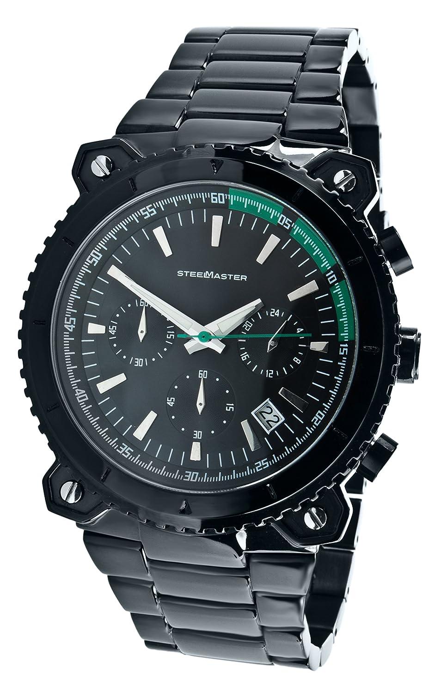 Steel Master Herren-Armbanduhr Chronograph Quarz Analog Edelstahl - CAP11032026.C