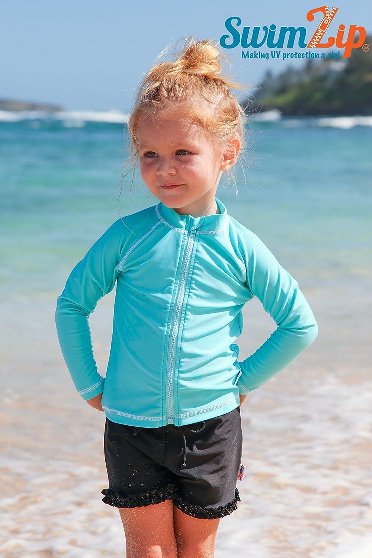 SwimZip Cutie Cruiser Long Sleeve Girl Rash Guard