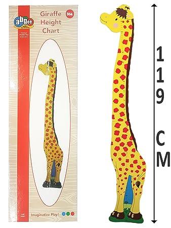 Kids Children Wooden Giraffe Jungle Animals Growth Height Chart Gift