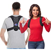 Fortuders Posture Corrector for Men and Women - Australian Designed - Back Brace For Clavicle Support, Adjustable Shoulder Brace and Providing Pain Relief for Neck, Back and Shoulder (Universal)