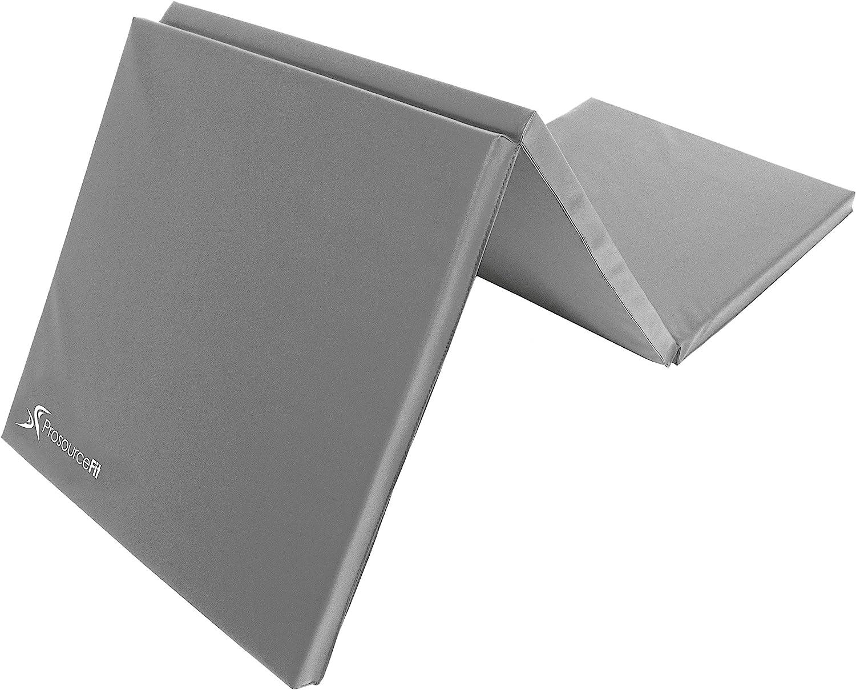 ProsourceFit Tri-Fold Folding Exercise Mat - Grey : Sports & Outdoors