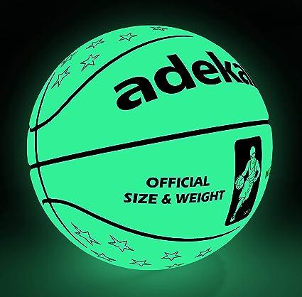 ADEKALE - Balón de Baloncesto Que Brilla en la Oscuridad para ...