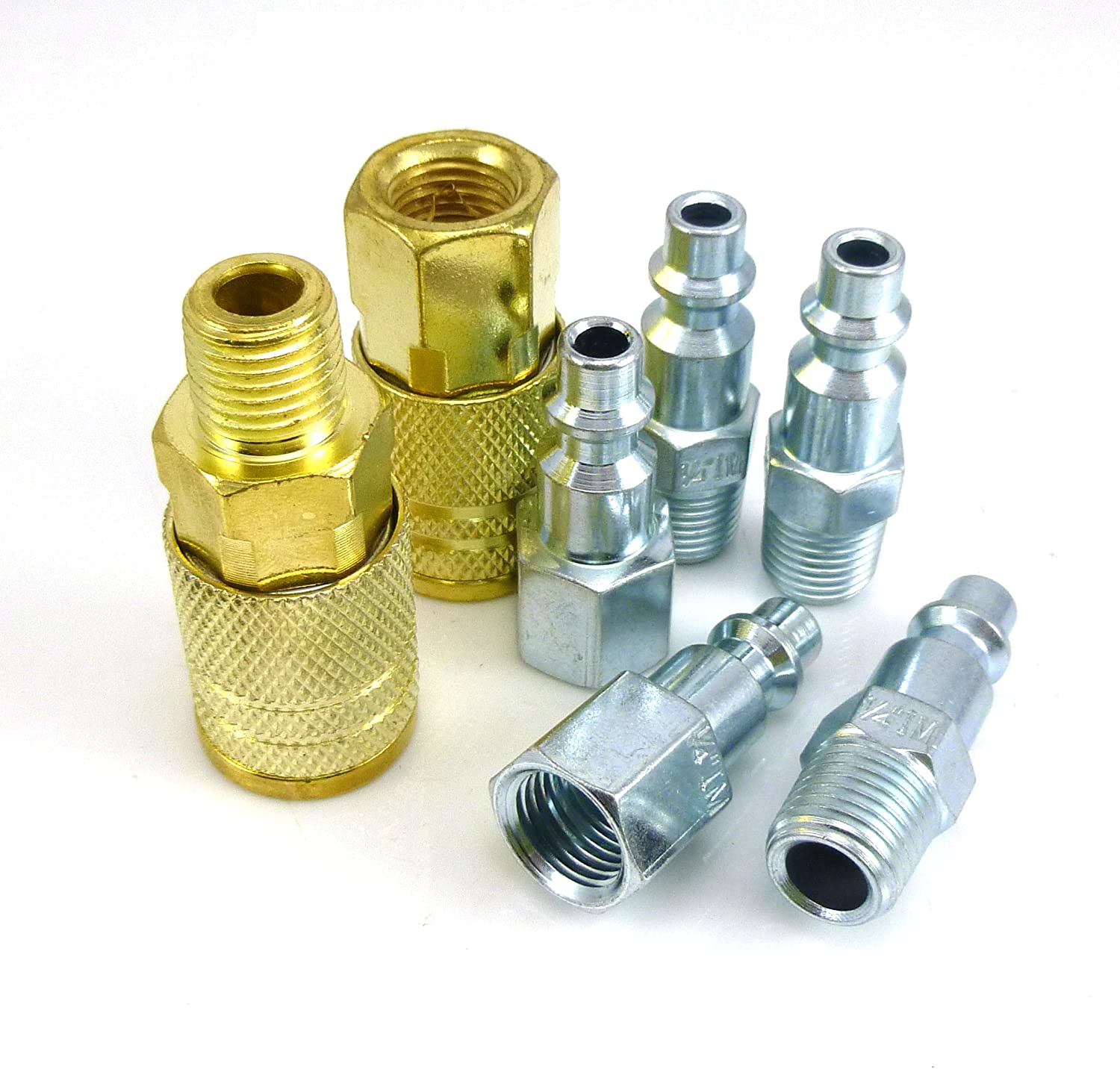 "Dynamic Power High Flow Industrial Piece Coupler and Plug Kit 1//4/"" NPT."