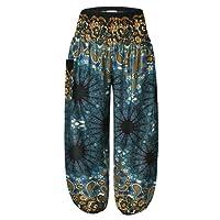 BaiShengGT Women's Bohemian Pants Harem Clothing Hippy Boho Style
