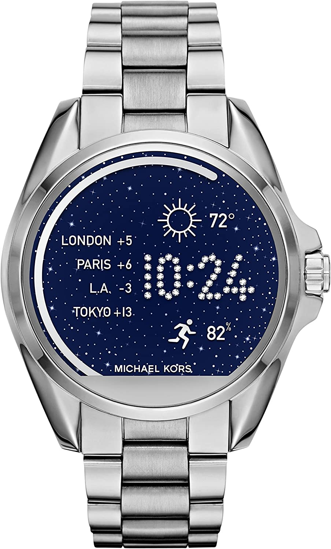 Michael Kors Access Unisex 45mm Silvertone Bradshaw Touchscreen Smart Watch