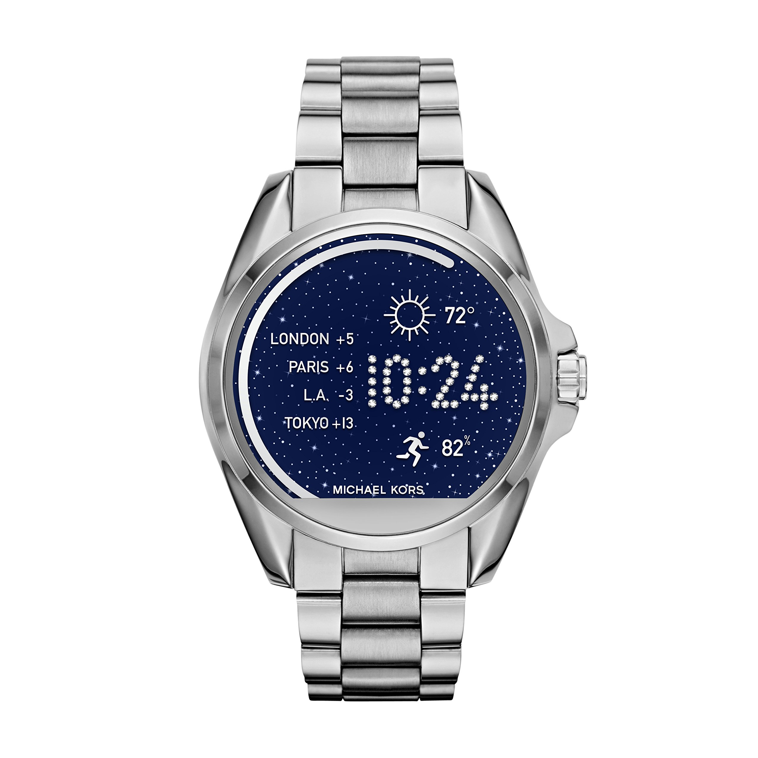 Micheal Kors 'Access: Bradshaw' Processor Stainless Steel Smart Watch, Color:Silver-Toned (Model: MKT5012)