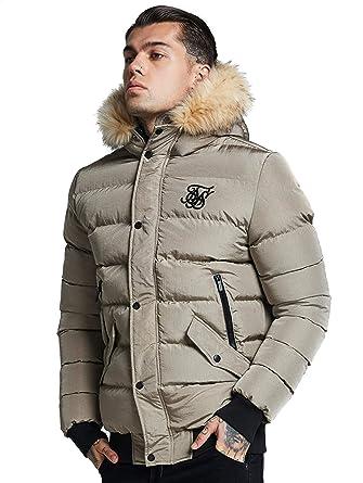 Sik Silk Herren Winterjacken Parachute beige XL: