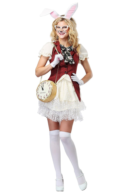 Women's White Rabbit Fancy dress costume Large