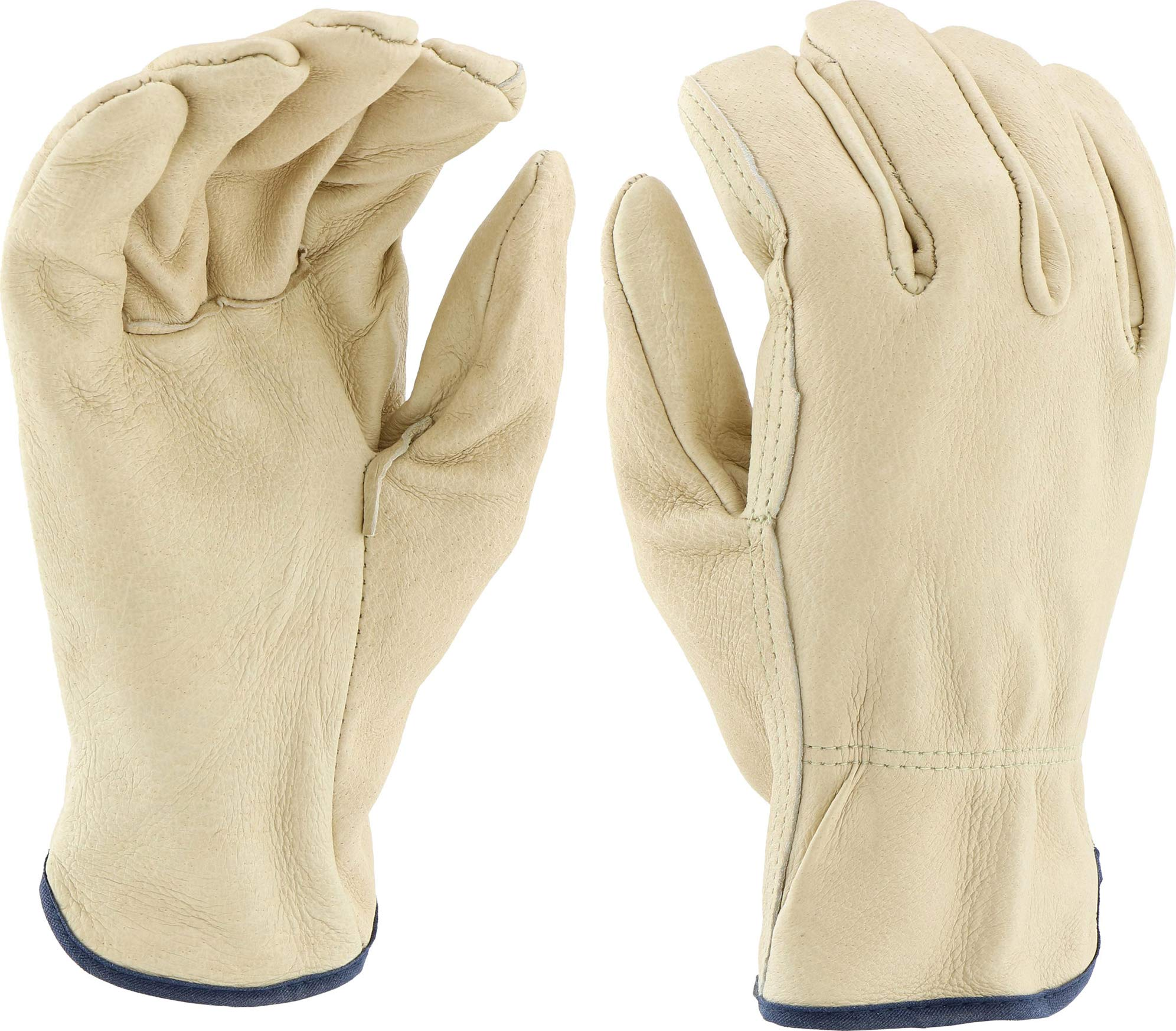 West Chester 994 Select Grain Pigskin Leather Driver Work Gloves: Straight Thumb, Large, 12 Pairs