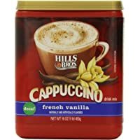 Hills Bros. Instant Cappuccino Mix, Decaf French Vanilla Cappuccino–Easy to Use, Enjoy Coffeehouse Flavor at Home…