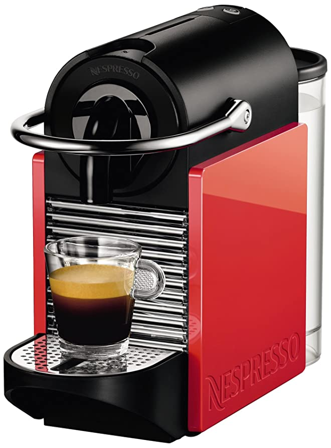 Nespresso Pixie Clips Coffee Machine, Neon Coral and White by ...