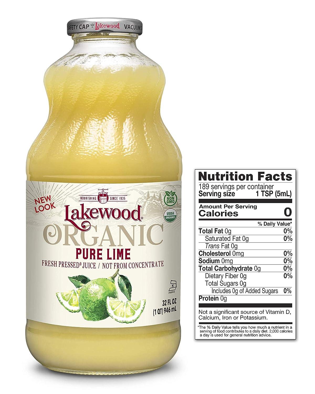Lakewood Pure Lime, Fresh Pressed (32 Oz, 6 Pack)