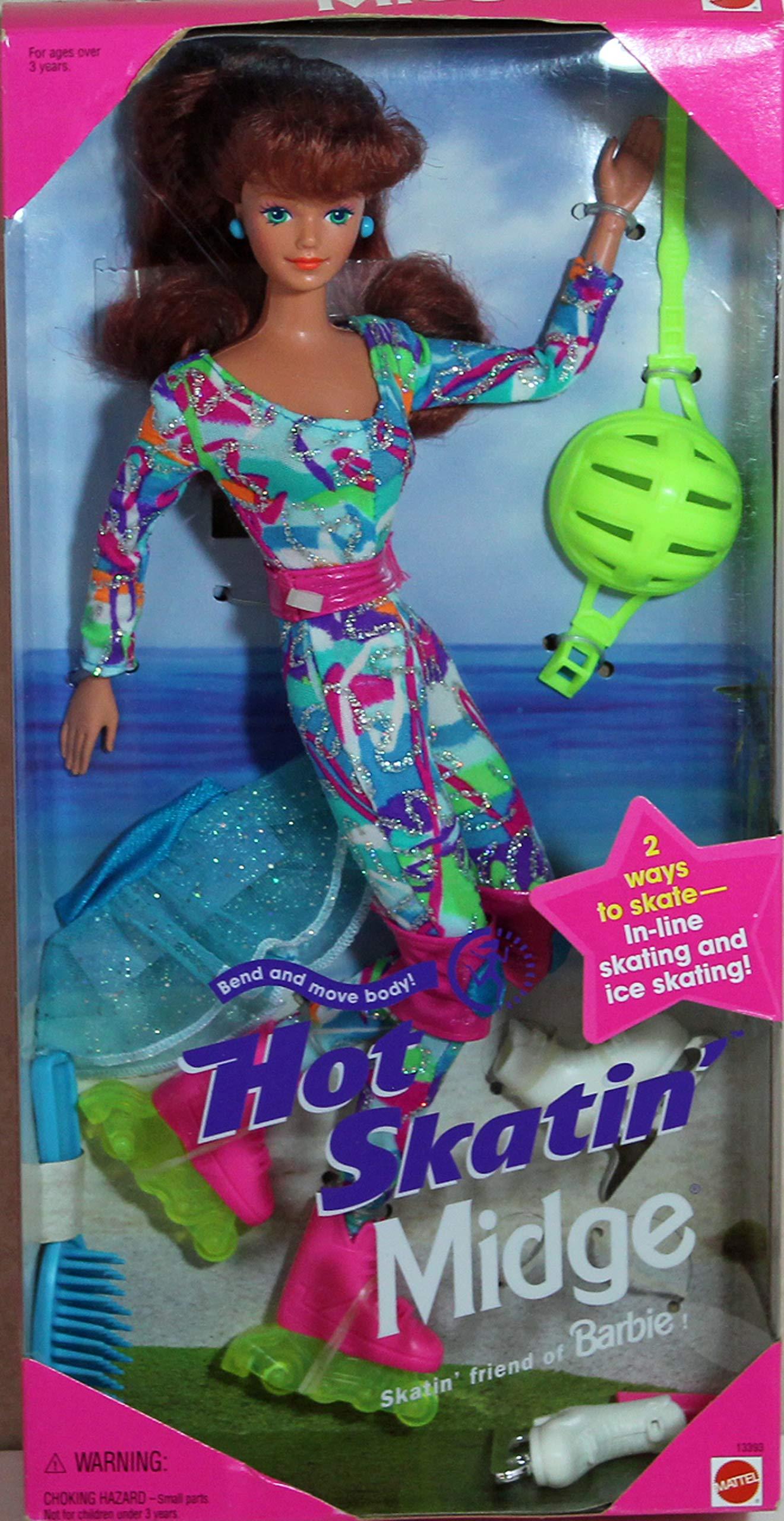 Barbie Hot Skatin' MIDGE Doll - In-Line & Ice Skating (1994)