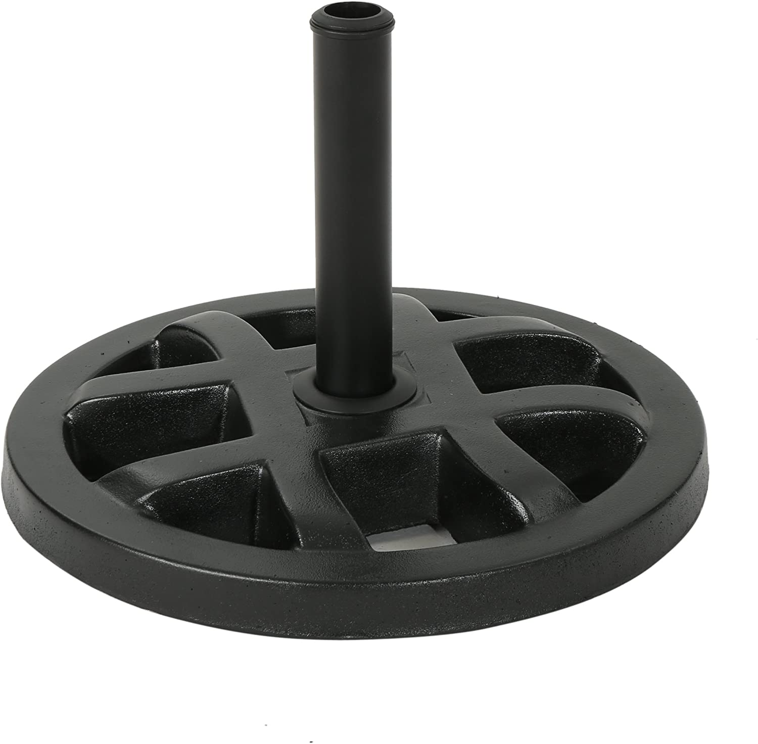 in Polished Black 26LBS Outdoor Concrete Circular Umbrella Base Christopher Knight Home  Cassie