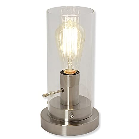 Edison Table Lamp Vintage Home Lighting Inside Light Accents Table Lamp Antique Style With Vintage Edison Bulb brushed Nickel