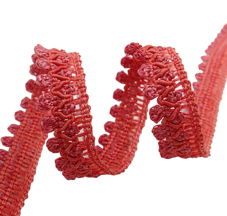 Trenza metálica Material de ajuste de 12 mm de costura fina puntilla Craft Por 18 yardas Knitwit