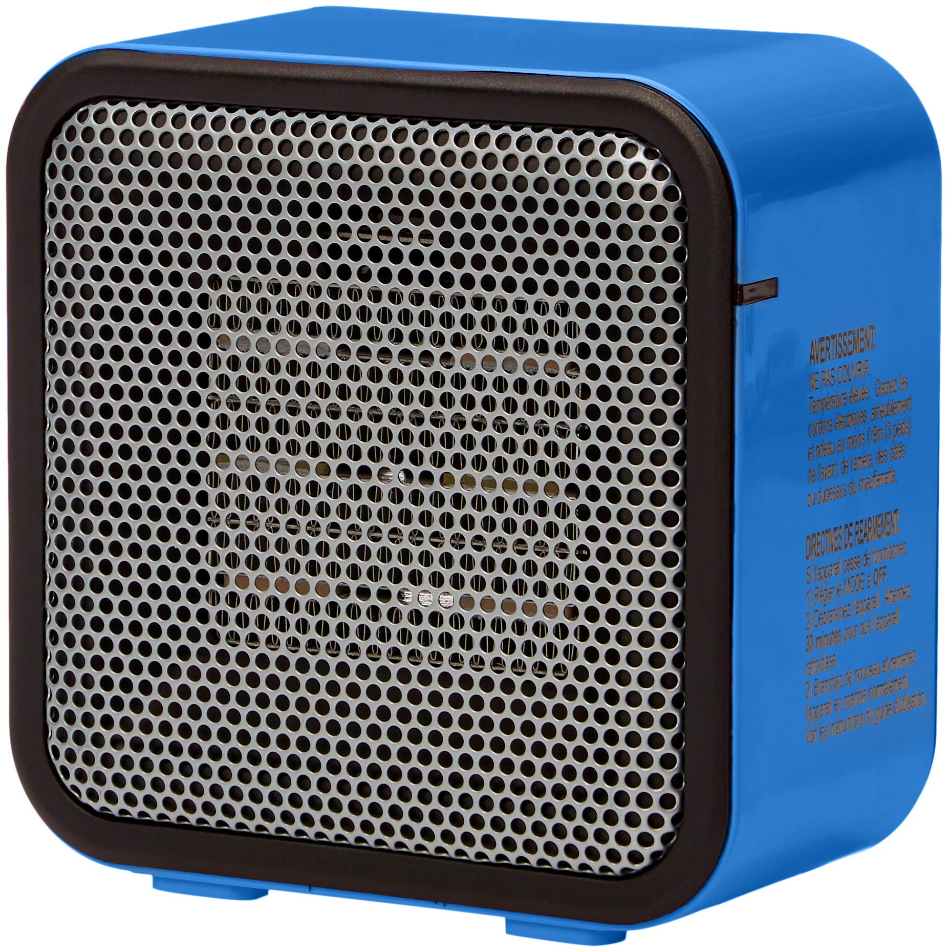 AmazonBasics 500-Watt Ceramic Small Space Personal Mini Heater – Black