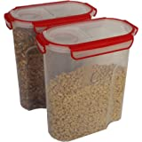 Food Storage Container Cereal Dispenser Holds Family Size Cereal Box Airtight Containers With Silicone Ring 2 Large 21 Cup 5L Best Watertight for Kitchen, Food, Rice, Picnic and Pantry Storage 169 oz