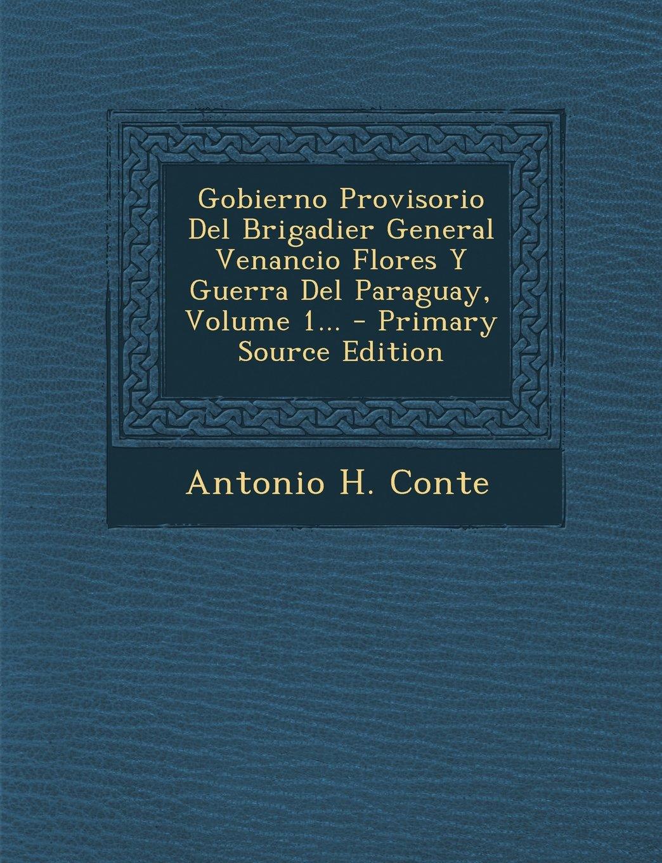 Gobierno Provisorio Del Brigadier General Venancio Flores Y Guerra Del Paraguay, Volume 1... - Primary Source Edition (Spanish Edition)