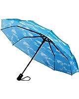 Crown Coast Travel Umbrella - 60 MPH Windproof Compact 10 Spoke Umbrellas in Multiple Colors