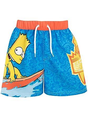98238f7837 Simpsons Boys Bart Swim Shorts Ages 5 to 13 Years: Amazon.co.uk ...