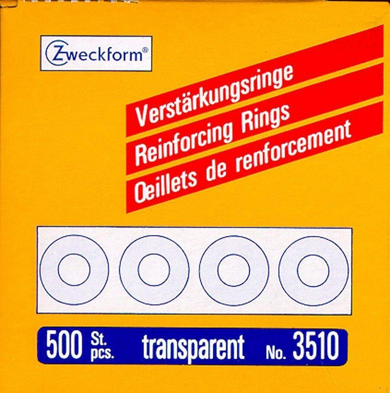 500 pcs trasparente Zweckform rinforzo-anelli /Ø 13 mm trasparente 3510