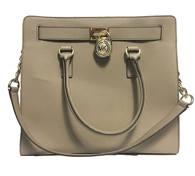 Amazon.com  MICHAEL Michael Kors Hamilton North South Tote (Dark Taupe)   Shoes 5ee4703096b
