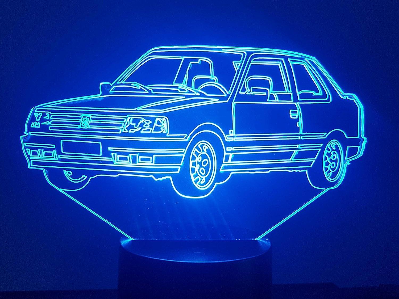Lampe 3D à leds, PEUGEOT 309 GTI