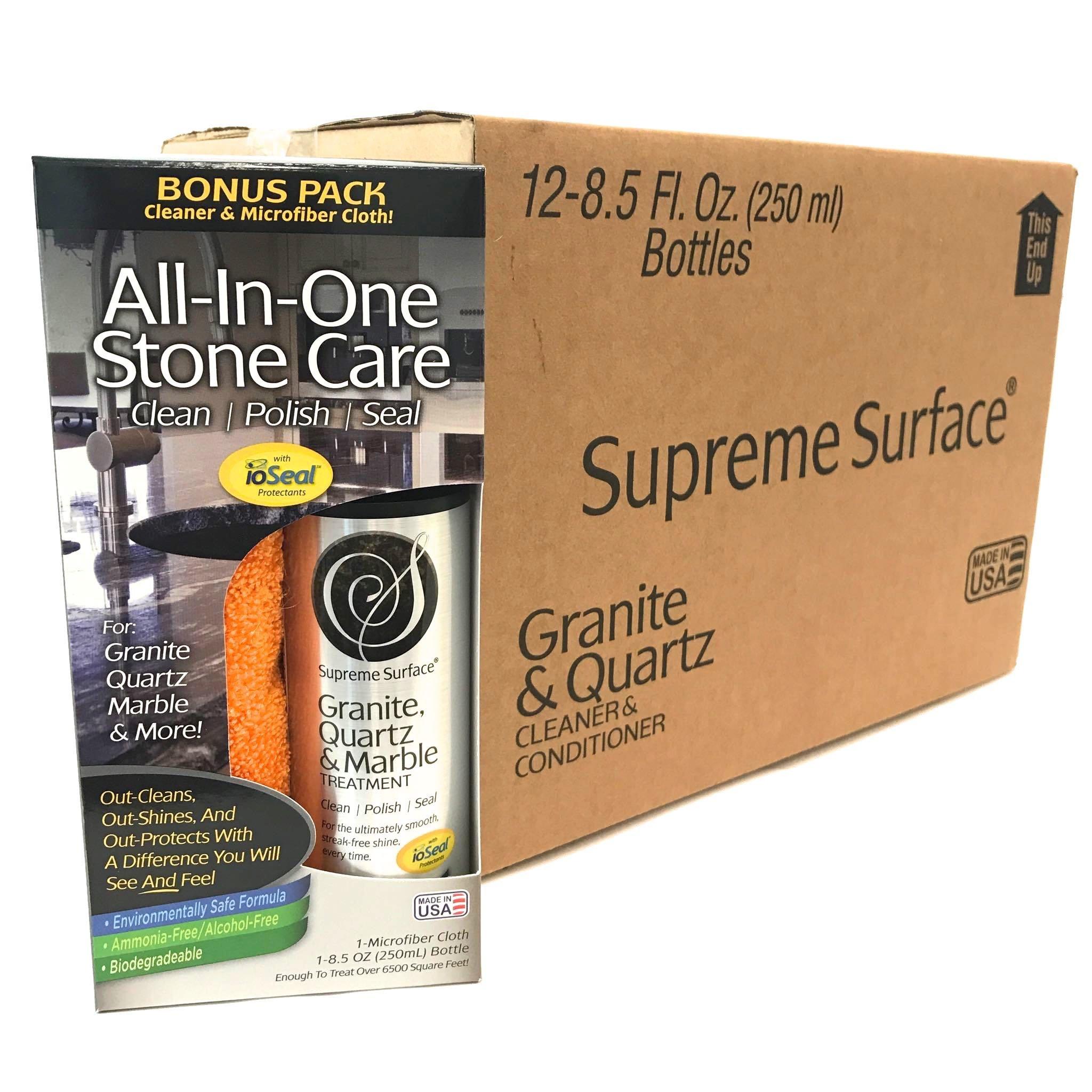 Supreme Surface Granite, Quartz & Marble Treatment (8.5 fl oz Bonus Pack Case (12 units))