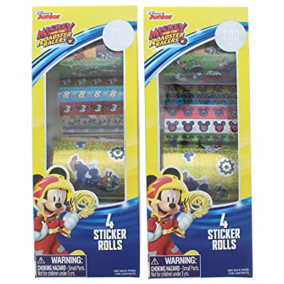 2 Pk. Mickey and The Roadster Racers Holographic Stickers 200+ Count (400+ Stickers Total): Toys & Games