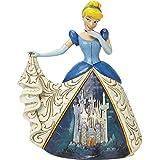 Enesco Disney Traditionsitions Figurine Cendrillon en Robe avec son château