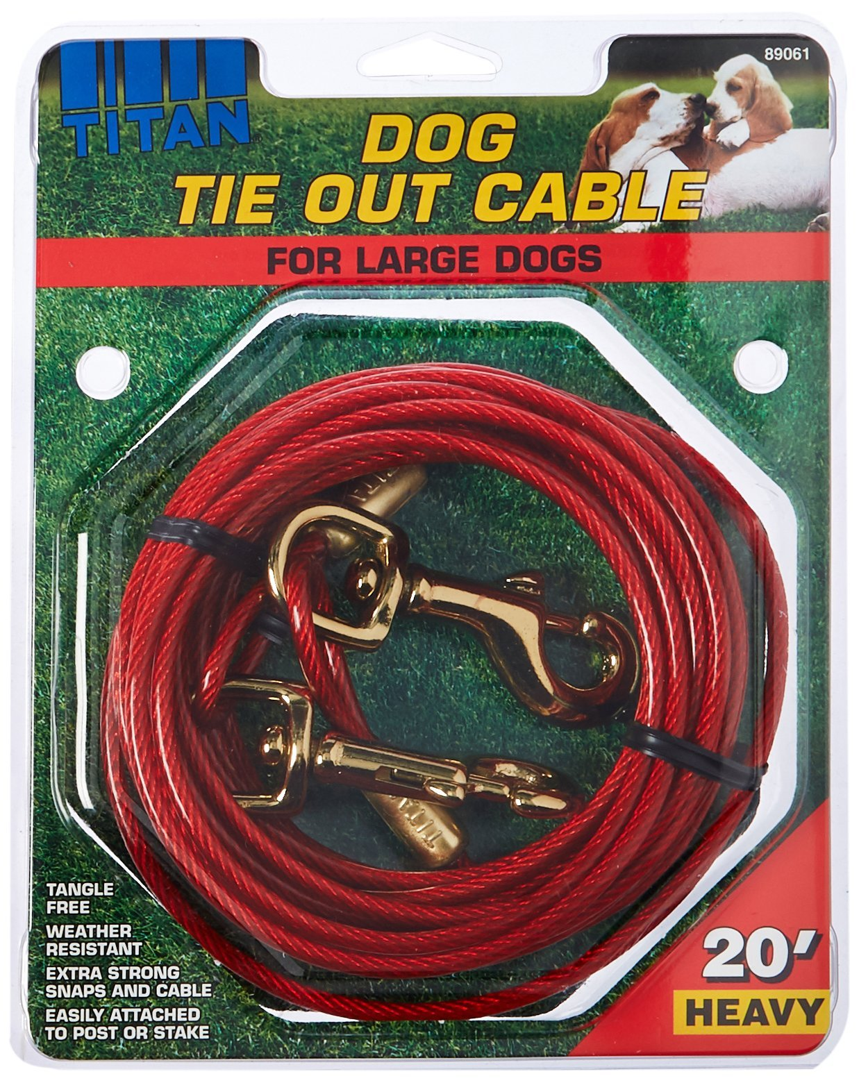 Titan Heavy Cable Dog Tie Out 20 Feet by Titan