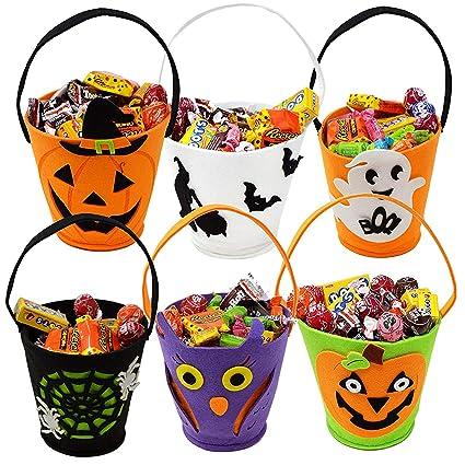 Moonvvin Halloween - Bolsas de Fieltro, 7 Piezas, para ...