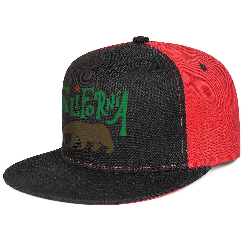 KYTKYTT Unisex Mesh Snapback Caps California Retro Coconut Palm Logo Flat Bill Hip Hop Baseball Hat