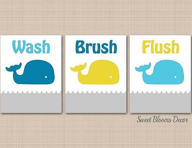 Kids Whale Bathroom Decor Unique Design Inspiration