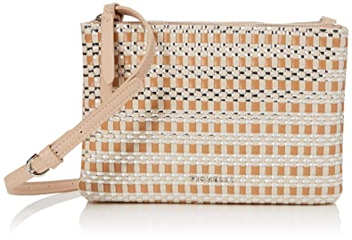 2dd3c1ed14 Fiorelli Womens Bunton Cross-Body Bag Beige (Nude Weave)  Handbags ...