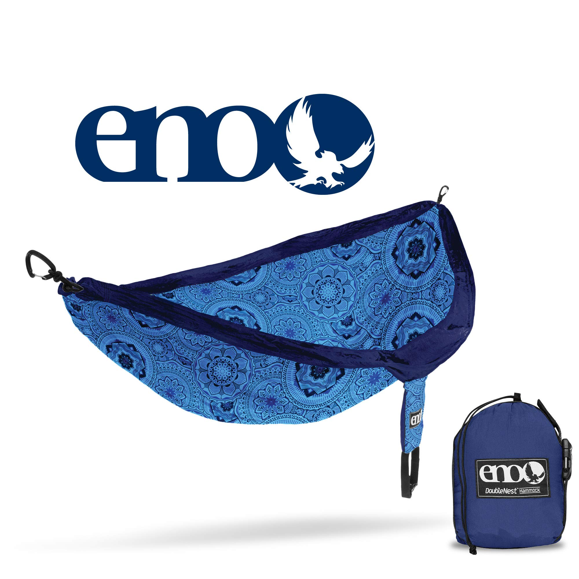 ENO - Eagles Nest Outfitters DoubleNest Print Portable Hammock for Two, Blue Mantra       by ENO